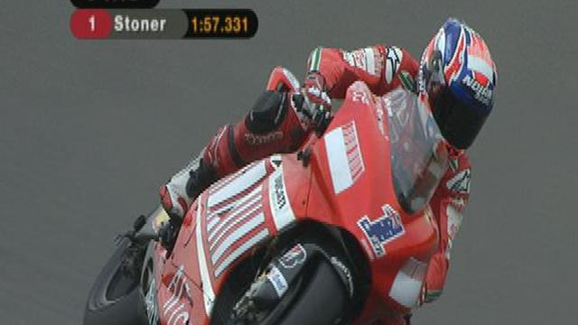 Stoner edges Rossi