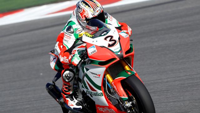 Biaggi sets German pace - Superbikes
