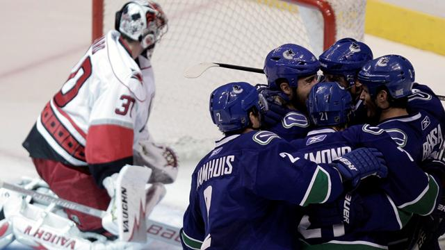 Canucks down Hurricanes - Ice Hockey