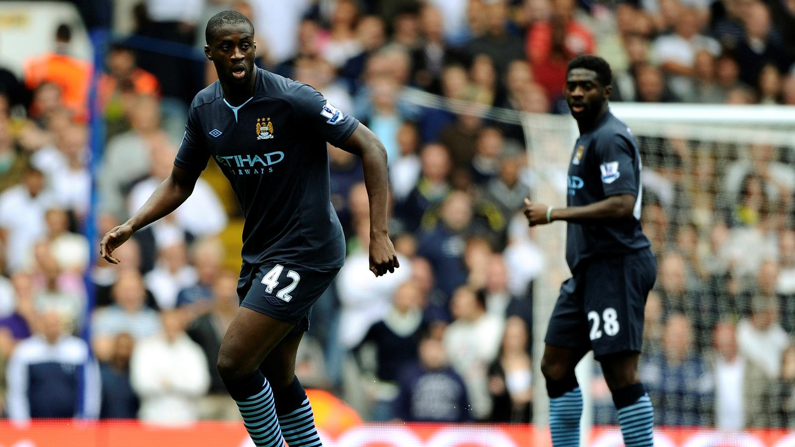 2010-11 Premier League Manchester City Yaya and Kolo Toure