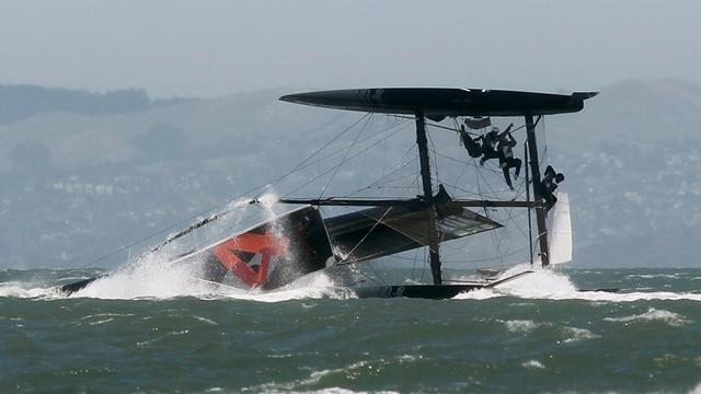 Oracle unleash, and capsize, catamaran