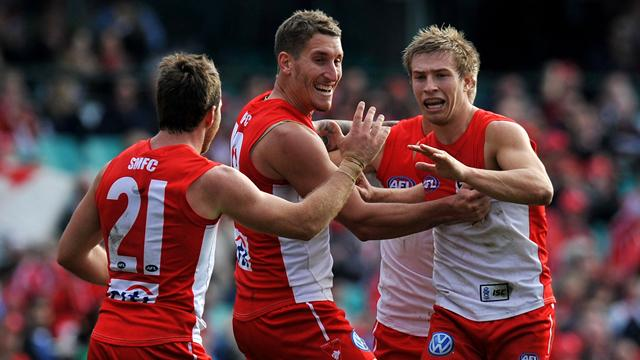 Swans thrash Eagles  - Australian Football