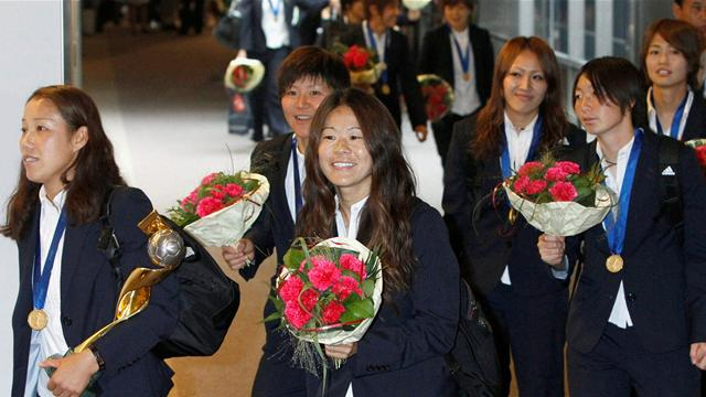 Japan welcomed home - Football - Women's World Cup