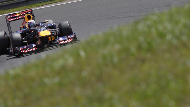 Vettel on pole in Hungary