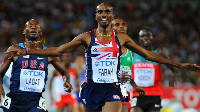 Farah wins 5000m gold - Athletics - World Athletics Championships