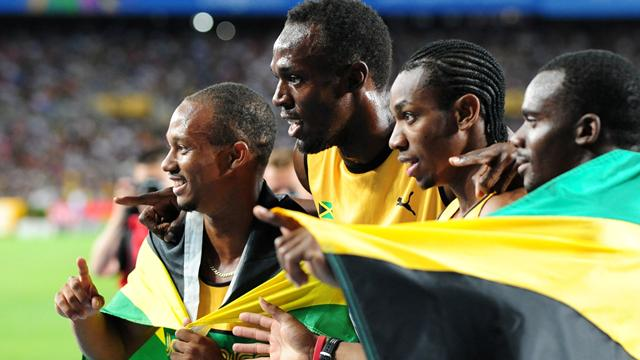 Jamaica win relay gold  - Athletics - World Athletics Championships