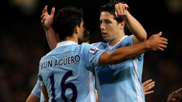 2012 Premier League Manchester City Aguero Nasri