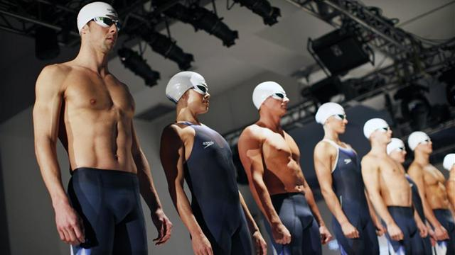 Phelps unveils swim suit - Swimming