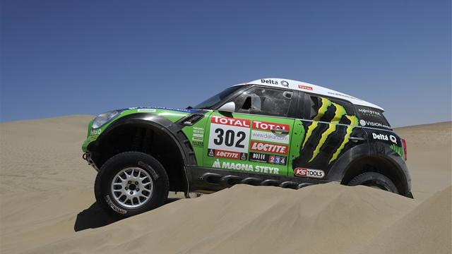 Cars: Peterhansel on verge - Rally Raid - Dakar