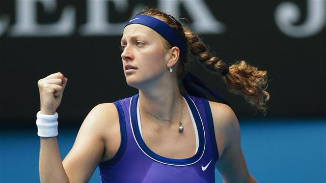 Erratic Kvitova books semi berth