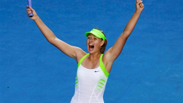 Sharapova beats Kvitova, into final