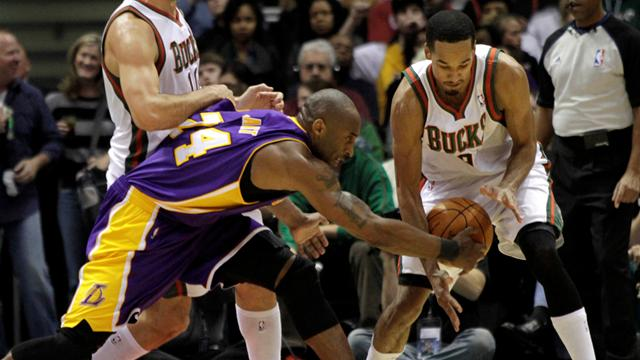 Depleted Bucks upset Lakers