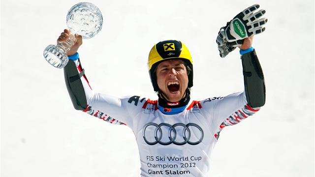 Hirscher wins GS to near overall triumph