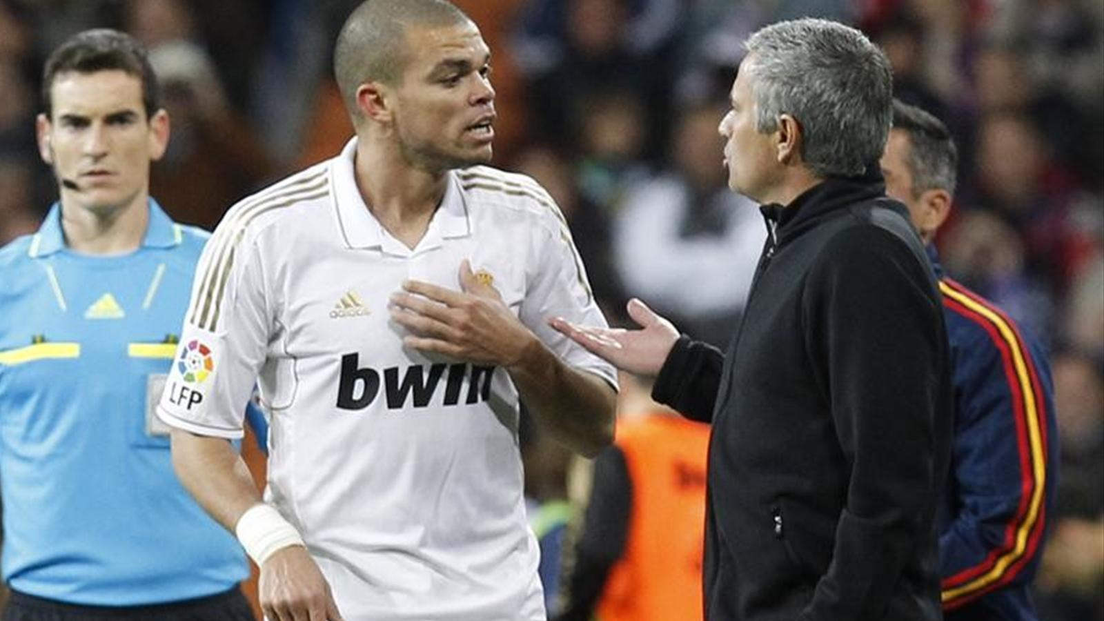 Image result for pepe and mourinho