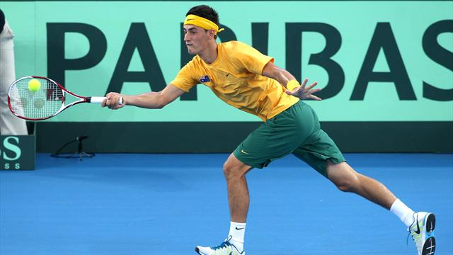 Tomic stretched in win - Tennis - Davis Cup