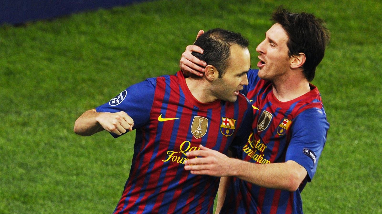 Andres Iniesta Lionel Messi Barcelone