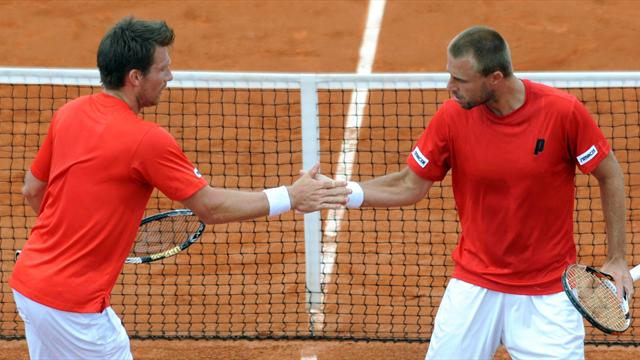 Austria win doubles to frustrate Spain