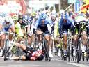 Cav crashes as Goss wins