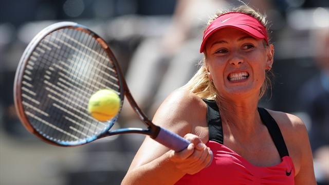 Sharapova through in Rome