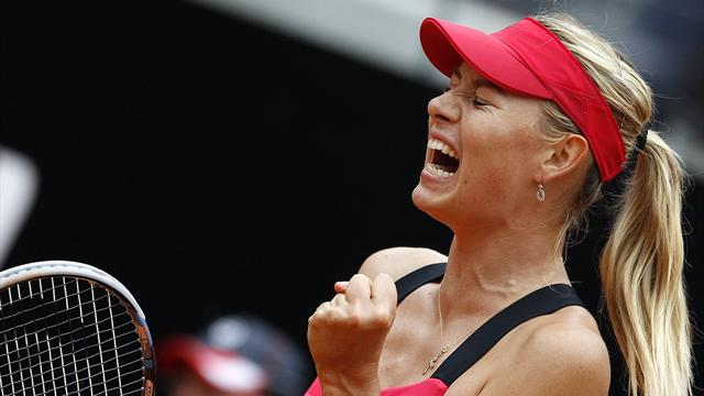 Sharapova retains Rome title after delay