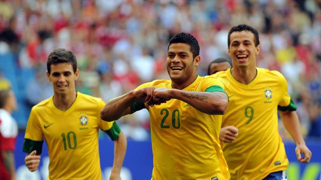 Hulk leads Brazil  - Football - Euro 2012