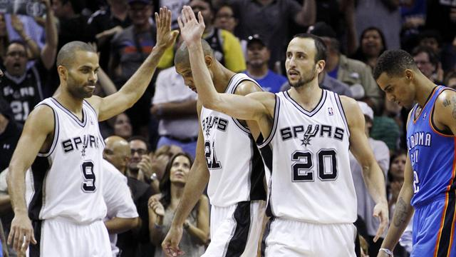 Streaking Spurs win opener with Thunder