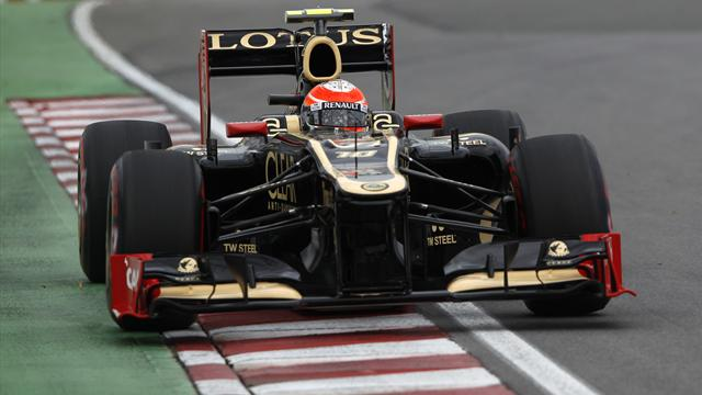 Five-place penalty for Grosjean