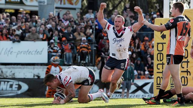 Roosters hold off Tigers, Panthers lose to Titans
