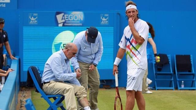 Cilic wins Queen's title after Nalbandian disqualified
