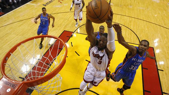 Heat edge ahead of Thunder - Basketball - NBA