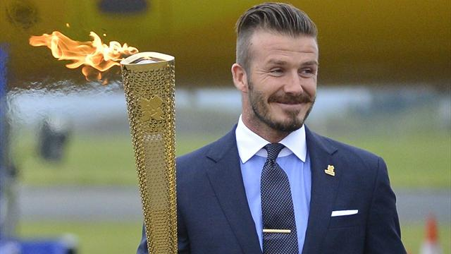 Beckham torch auction - Olympic Games - London 2012