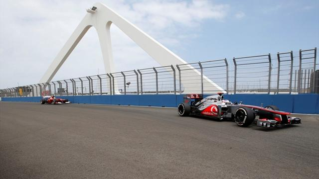Button fastest in final Valencia practice