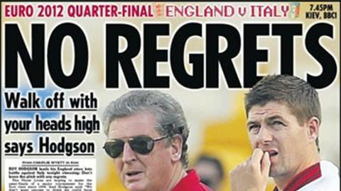 Paper: Come on England! - Football - Euro 2012