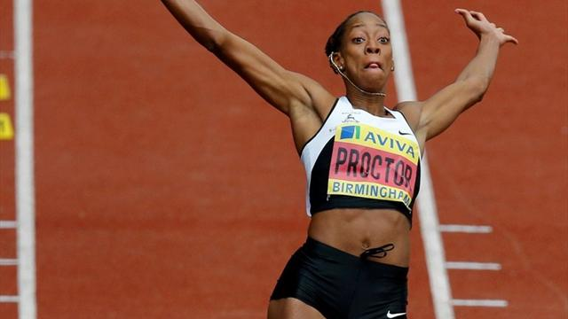 Proctor shatters long jump record