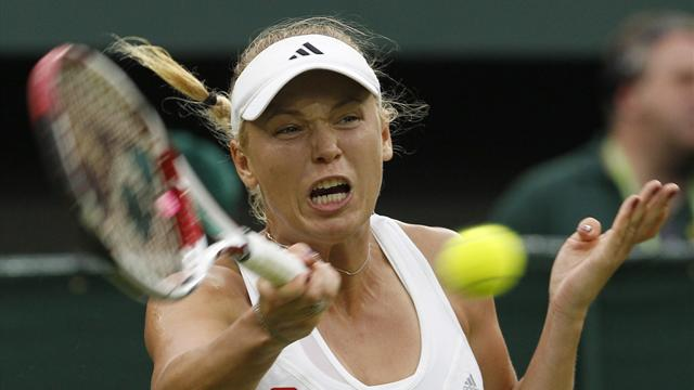Wozniacki sent packing at Wimbledon