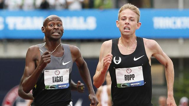 Rupp runs down Lagat  - Olympic Games - London 2012