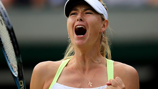 Sharapova sweeps into Wimbledon last 16