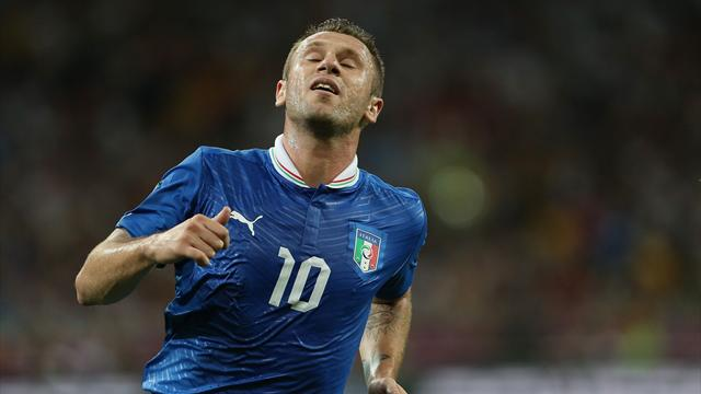Cassano fined for gay slur - Football - Euro 2012