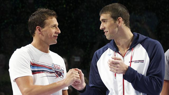 Lochte happy to battle with Phelps