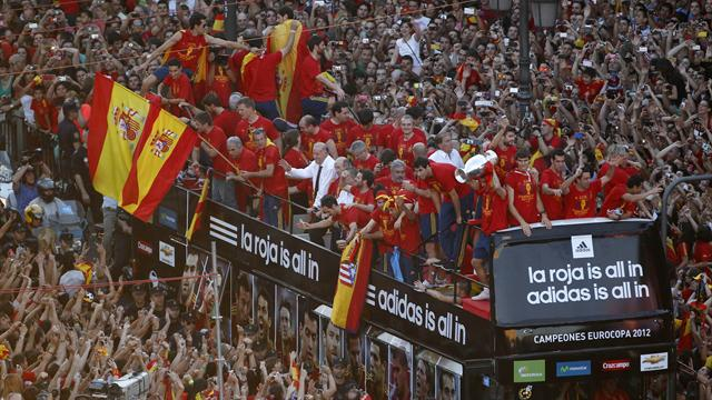 Recession-hit Spain celebrates Euro triumph