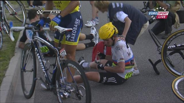 Crashes continue at Tour de France