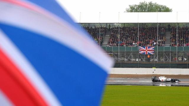 Silverstone practice blighted by rain