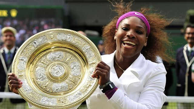 Williams overcomes tension to win fifth Wimbledon crown