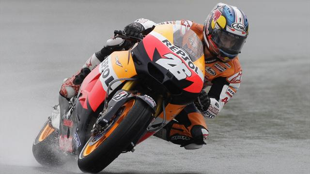 Pedrosa wins German MotoGP as Stoner crashes