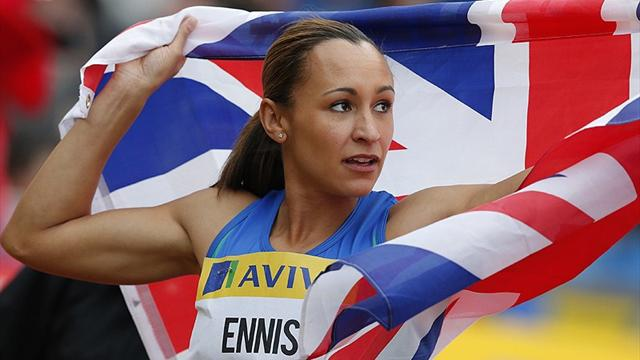Ennis labours in comp - Olympic Games - London 2012