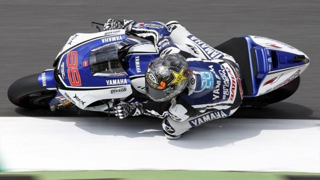 Lorenzo on top in Laguna Seca fog