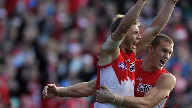 Swans reclaim top spot with ugly win