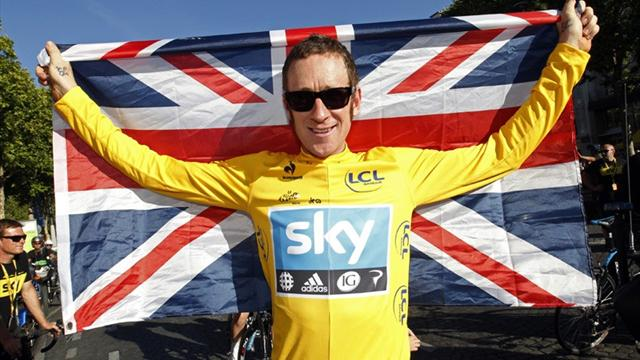 Wiggins in Tour of Britain - Cycling