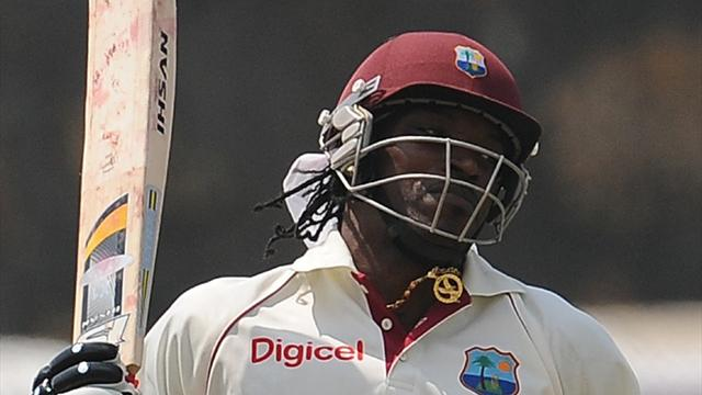 Gayle storms back to Tests in style