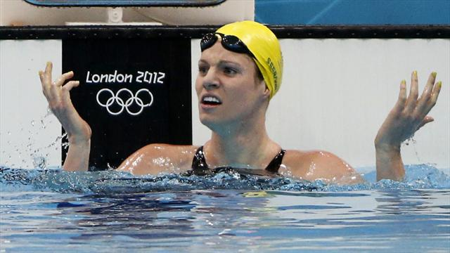 Seebohm upstages Franklin with Olympic record